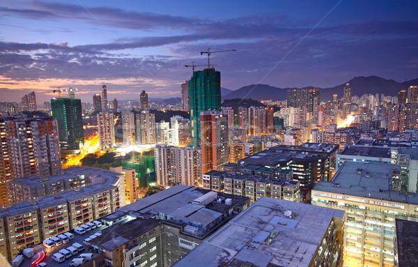 hongkong urban area in sunset moment Stock photo © cozyta