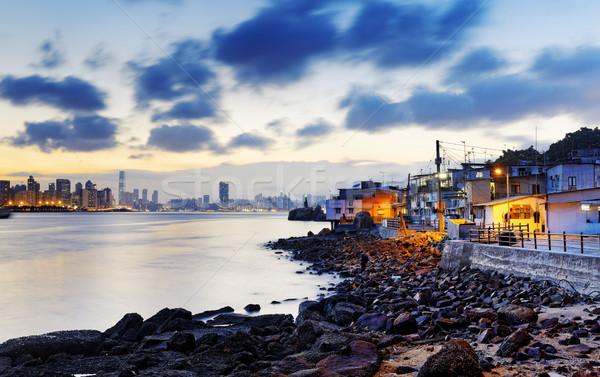Sunset in Hong Kong fishing valley Stock photo © cozyta