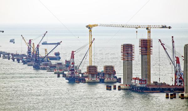 Сток-фото: строительная · площадка · Гонконг · моста · день · бизнеса · автомобилей