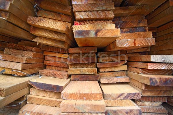 Stack of lumber  Stock photo © cozyta