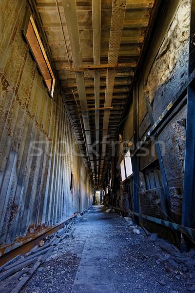 Zdjęcia stock: Ruiny · fabryki · uszkodzenie · dzień · sądu · ostatecznego · zniszczenia · domu