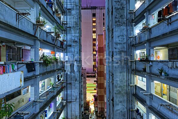 Hong kong slum downtown area Stock photo © cozyta