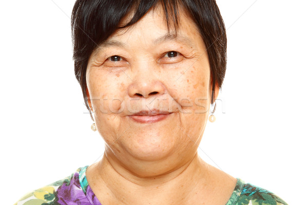 幸せ 60年代 シニア アジア 女性 白 ストックフォト © cozyta