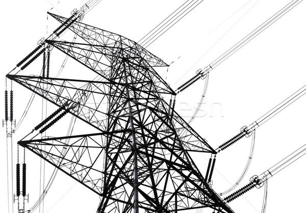power transmission tower on sky  Stock photo © cozyta