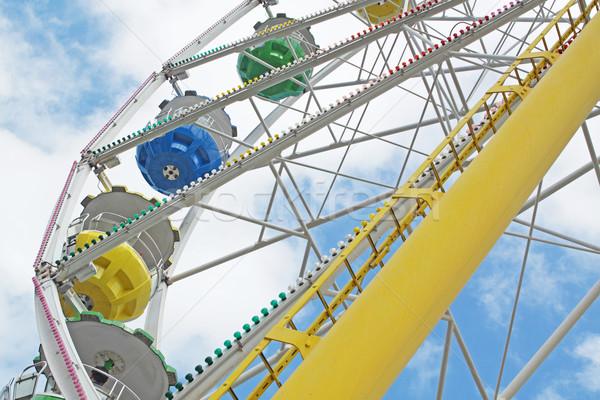 Blue sky família azul parque férias Foto stock © cozyta