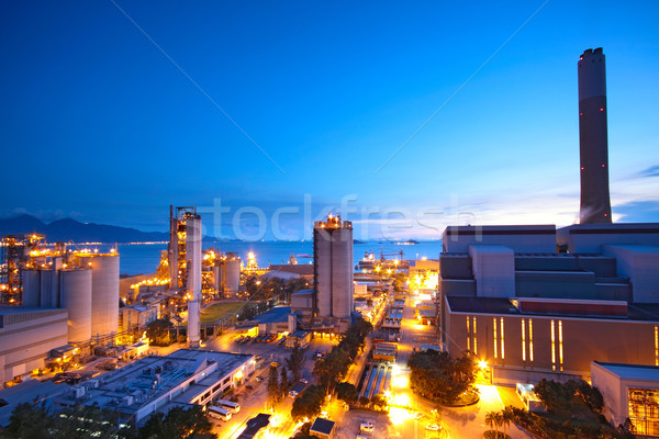coal power station and night blue sky  Stock photo © cozyta