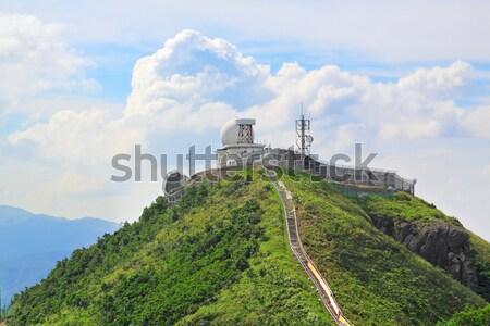 weather station on mountain Stock photo © cozyta