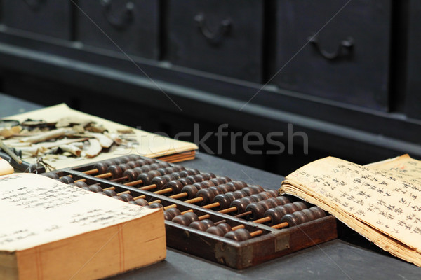 Abaco libro tavola cinese vecchio shop Foto d'archivio © cozyta