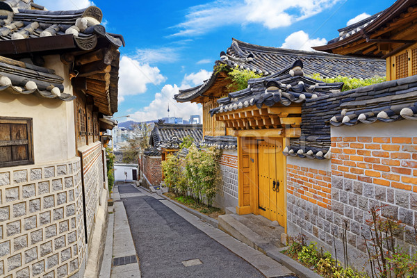 Bukchon Hanok Historic District at Seoul Stock photo © cozyta
