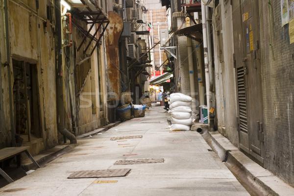 long dark back alley Stock photo © cozyta
