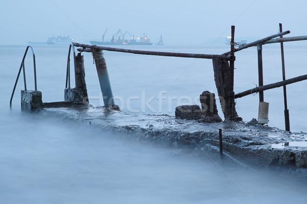 Fürdik kínai struktúra úszik tenger part Stock fotó © cozyta