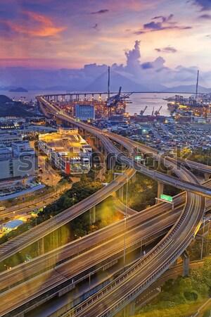 Kowloon at sunset Stock photo © cozyta