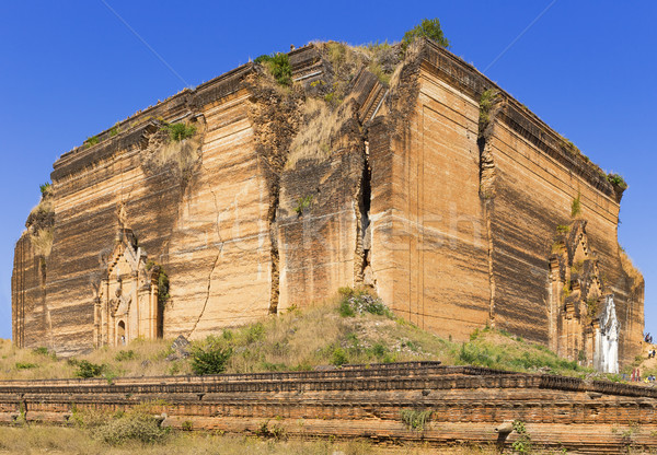 Ruined Pagoda in Mingun Paya / Mantara Gyi Paya  Stock photo © cozyta