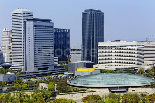 Osaka şehir gün Japonya iş köprü Stok fotoğraf © cozyta