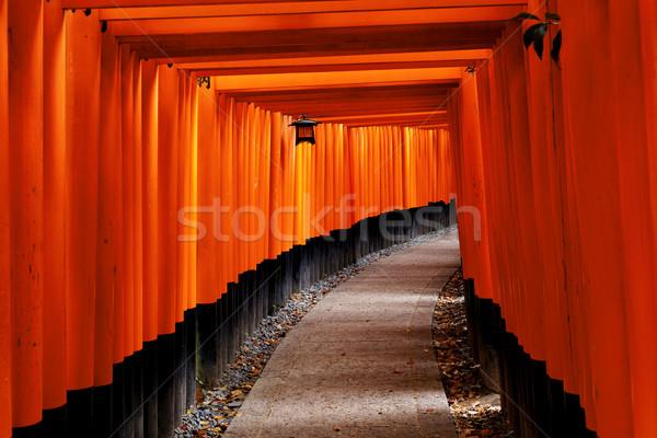 святыня красный ворот Киото Япония фон Сток-фото © cozyta