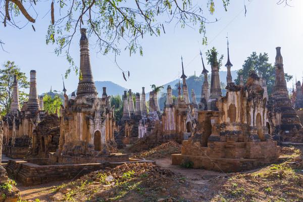 Rovine antica frazione lago Myanmar Foto d'archivio © cozyta