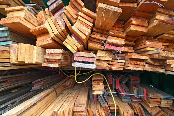Legno costruzione bordo stock materiale Foto d'archivio © cozyta