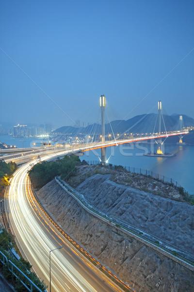 highway and Ting Kau bridge  Stock photo © cozyta
