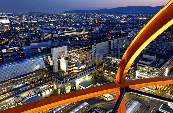 Kyoto Night City Japon vue tour eau Photo stock © cozyta