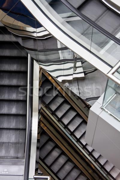 Stok fotoğraf: Yürüyen · merdiven · Bina · iş · inşaat · ışık