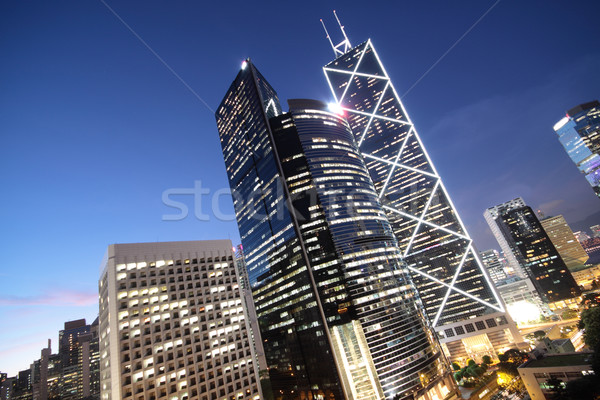 office building at night in hong kong  Stock photo © cozyta