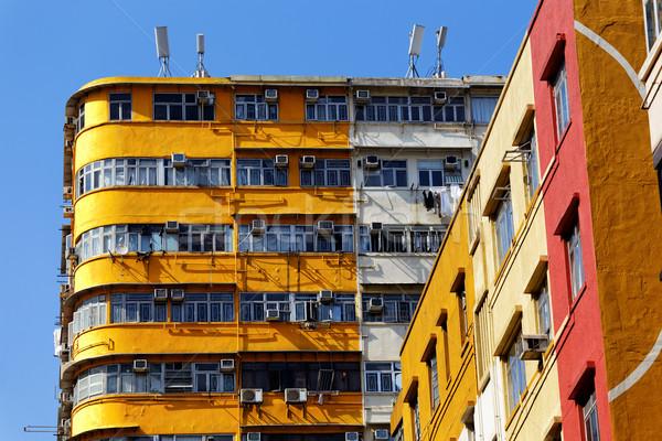 古い 香港 日 タウン ホーム ストックフォト © cozyta