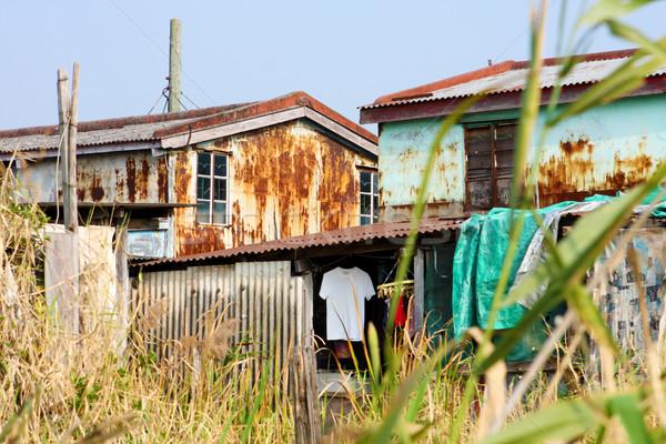 Edad Rusty metal viviendas día casa Foto stock © cozyta