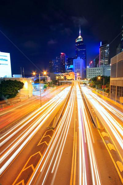 Tráfico nocturna de la ciudad negocios oficina resumen luz Foto stock © cozyta