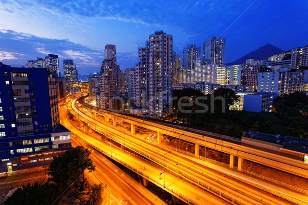 Сток-фото: занят · шоссе · поезд · движения · ночь · Финансы