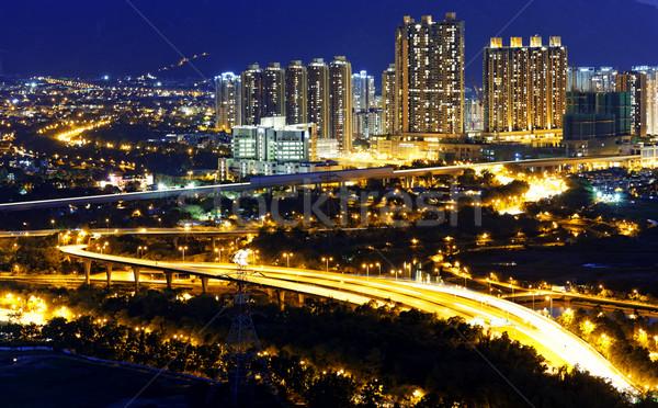 Сток-фото: городского · центра · закат · момент · Гонконг · бизнеса