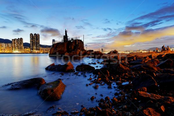 Hong Kong Lei Yue Mun sunset Stock photo © cozyta