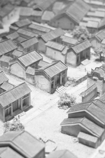 model of chinese village  Stock photo © cozyta