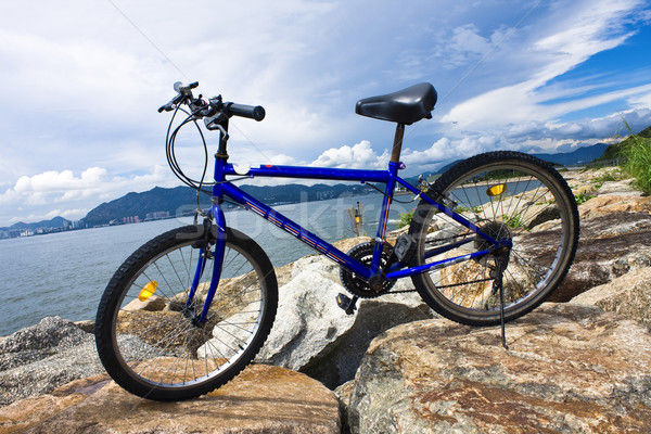 bike in the sea bay and blue sky Stock photo © cozyta