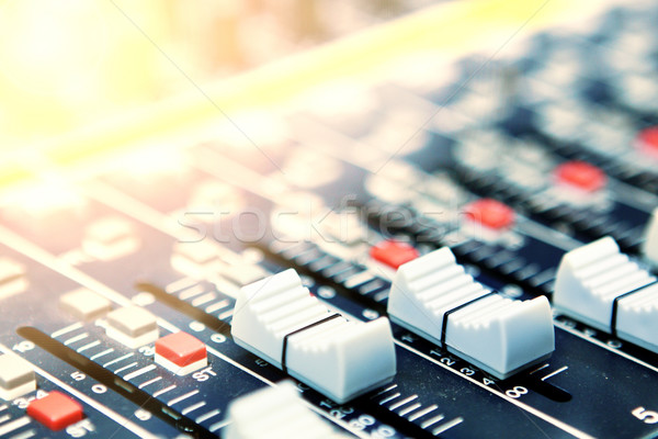 Stock photo: mixing desk background pattern