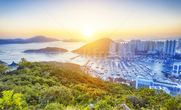 Hong Kong beautiful sunset Stock photo © cozyta