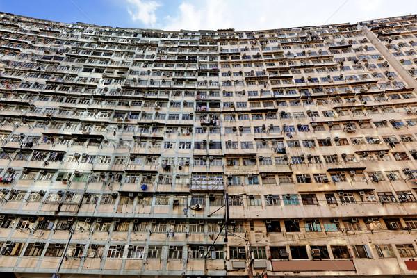 Oude Hong Kong stad leven lopen Stockfoto © cozyta