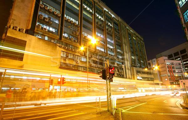 Tráfico noche urbanas ciudad negocios luz Foto stock © cozyta