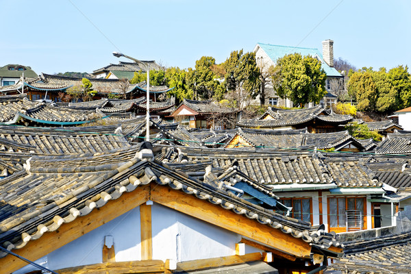 Bukchon Hanok Village is one of the famous place for Korean Stock photo © cozyta