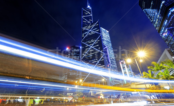hong kong traffic night Stock photo © cozyta