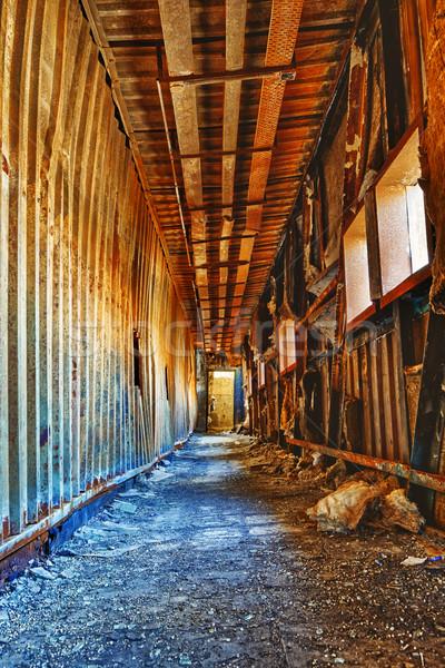 Old abandoned ruin factory damage building inside Stock photo © cozyta