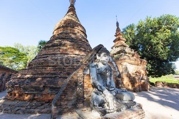 Buddha pont Voyage statue religion style Photo stock © cozyta