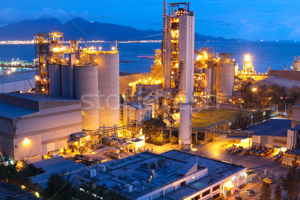 Ciment usine lourd industrie affaires Photo stock © cozyta