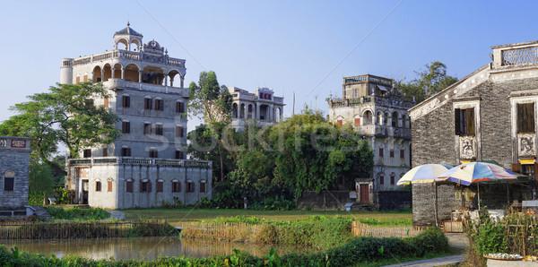 Cina casa panorama finestra verde vita Foto d'archivio © cozyta
