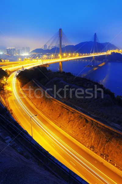 Ting Kau bridge at sunset Stock photo © cozyta