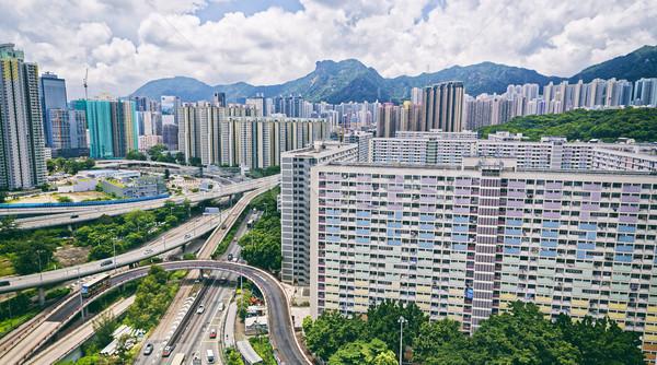 Hong Kong pubblico punto di riferimento leone rock Foto d'archivio © cozyta