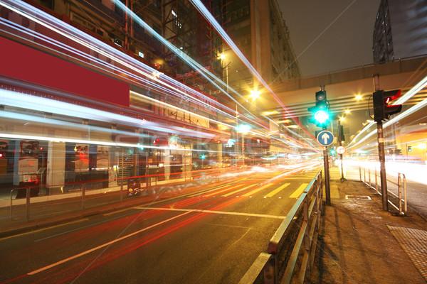 Moderna urbanas paisaje noche negocios carretera Foto stock © cozyta