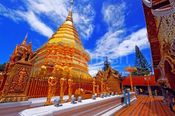 Wat Phra That Doi Suthep is a major tourist destination of Chian Stock photo © cozyta
