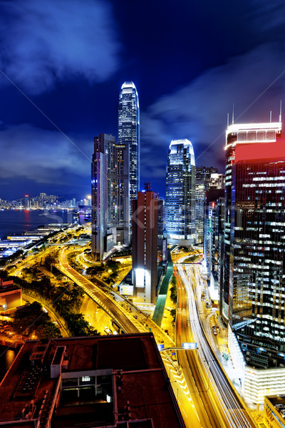 Hong Kong night Stock photo © cozyta