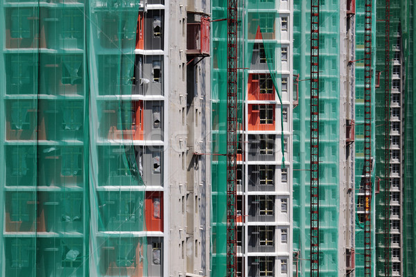 Construction site of private apartments  Stock photo © cozyta