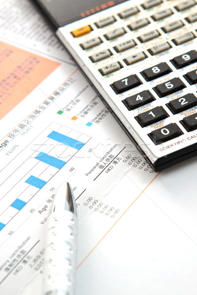 Financial concept: analyzing. Stock photo © cozyta